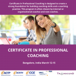 certificate in professional coaching india