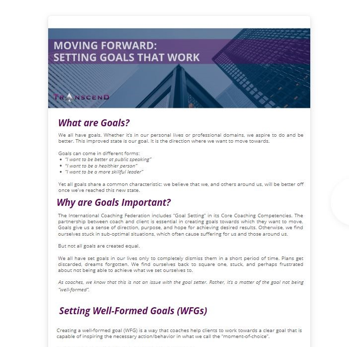 setting well formed goals full version